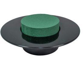 Ikebana clinder vizes tűzőhabbal fekete M6,5cm D19cm 2db/csom