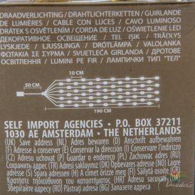 160 LED-es arany drótkábeles korbács elemes (elem nélkül) extra meleg