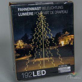 192 LED-es stilizált fenyőfafény meleg