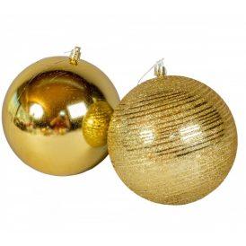 Műanyag gömb arany 120mm