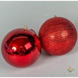 Műanyag gömb piros 120mm