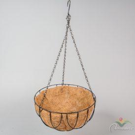 Kókusz háncs betétes függő kosár D30cm