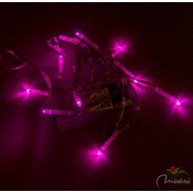 10 LED-es fényfüzér elemes (elem nélkül) színes