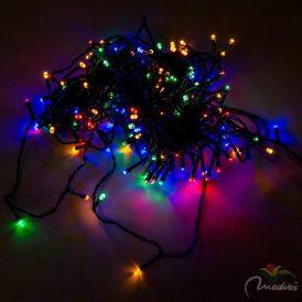 180 LED-es fényfüzér programos adapteres multi color