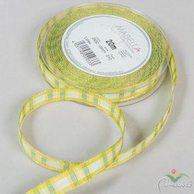 Textil szalag LOLEK zöld kockás 15mmx20m