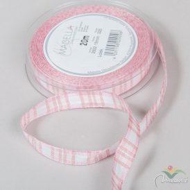 Textil szalag LOLEK rózsaszín kockás 15mmx20m