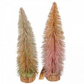 Mini fenyőfa glitteres M35cm
