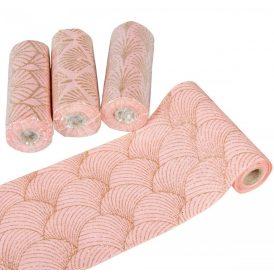 Dekor tekercs rózsaszín-arany 14x270cm
