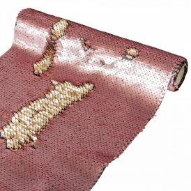 Flitteres tekercs rózsaszín-arany 25x125cm