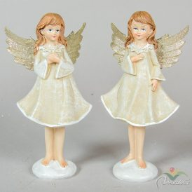 Angyal lányka álló glitteres szárnnyal poly. M21cm