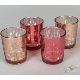 Üveg mécsestartó pohár M6,5x5,5cm