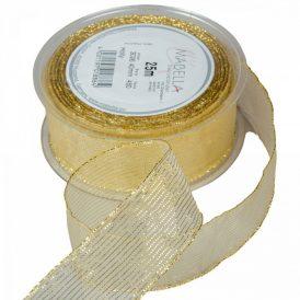 Textil szalag HOLLY arany 40mm x 25m