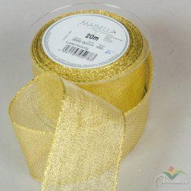 Textil szalag LUXEMBURG arany 60mm x 20m