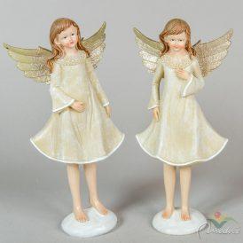 Angyal lányka álló glitteres szárnnyal poly. M31cm