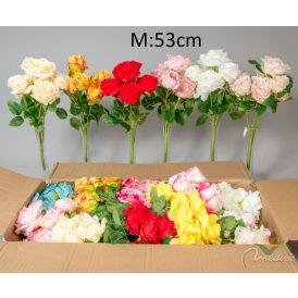 Nyílt rózsa csokor 7v. 20db/karton Egész/fél kartonra rendelhető!