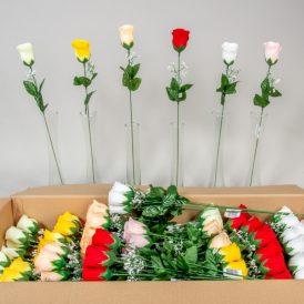 Rózsa szálas bársony M51cm 144db/#