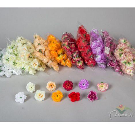 Rózsa virágfej mini D5cm 50db/szín/csom