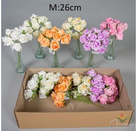 Polifoam rózsa 10v. M26cm 12db/#