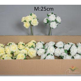 Polifoam rózsa csokor 5v. 24db/karton Egész/fél kartonra rendelhető!