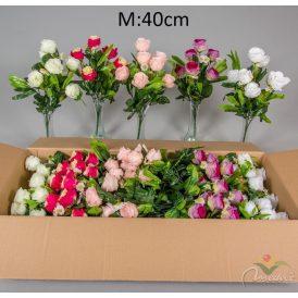 Rózsabimbó csokor 7v. M40cm 20db/#