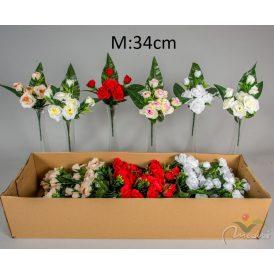 Rózsa csokor féloldalas 7v. 36db/karton Egész/fél kartonra rendelhető!
