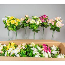 Rózsa, rózsabimbó csokor 7v. 18db/karton Egész/fél kartonra rendelhető!
