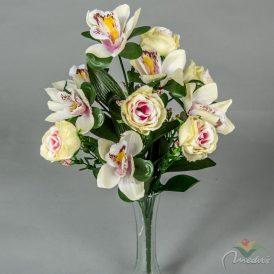 Rózsa,orchidea csokor 11v. 12db/#
