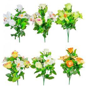Rózsa, orchidea csokor 7v. 18db/karton Egész/fél kartonra rendelhető!
