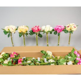 Rózsa köteg 5v. M30cm 18db/#