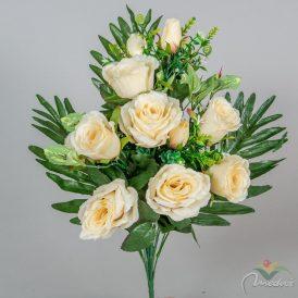 Rózsa/rózsabimbó csokor 12v. M47cm 12db/#