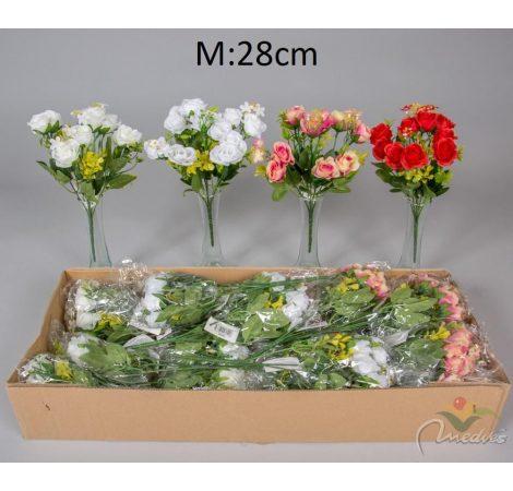 Rózsabimbó csokor 10v. M28cm 24db/#