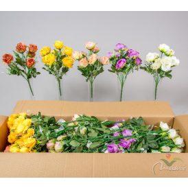 Rózsa csokor 7v. M30cm 36db/#