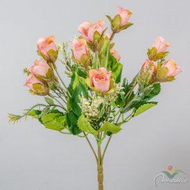 Rózsabimbó csokor 15v. M31cm 48db/#