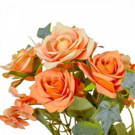 Rózsa, hortenzia csokor 7v. M27cm 24db/#