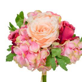 Hortenzia,rózsa köteg 7v. M28cm 12db/#