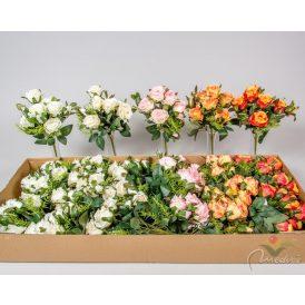 Rózsa csokor 7v. M32cm 24db/#