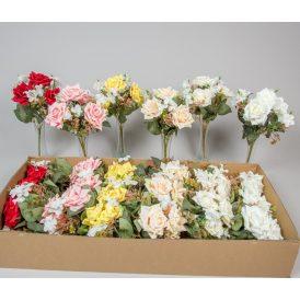 Rózsa, hortenzia csokor 7v. M30m 24db/#