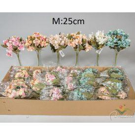 Hortenzia csokor 5v. M25cm 36db/#