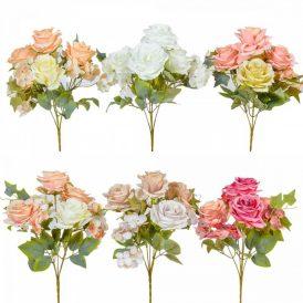 Rózsa, hortenzia csokor 7v. 24db/#