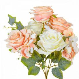 Rózsa, hortenzia csokor 7v. 24db/karton Egész/fél kartonra rendelhető!