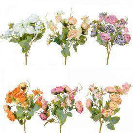 Rózsa csokor  9v. M30cm 36db/#