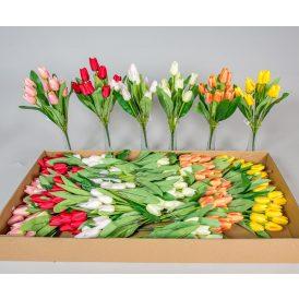 Tulipán csokor 9v. M35cm 36db/#
