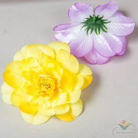 Dália virágfej szatén mix4 D14cm 72db/#