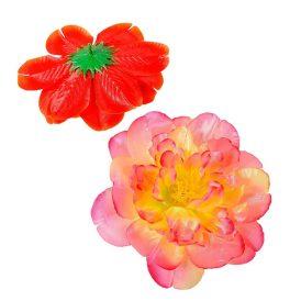 Dália virágfej szatén világos mix5 D14cm 72db/#