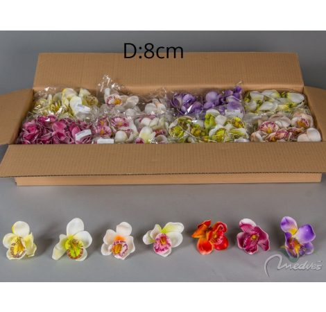 Orchidea virágfej polifoam 12db/szín/csom Egész csomagra rendelhető!
