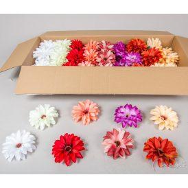 Dália virágfej szatén mix2 D14cm 72db/#