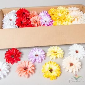 Dália virágfej szatén mix6 D12cm 72db/#