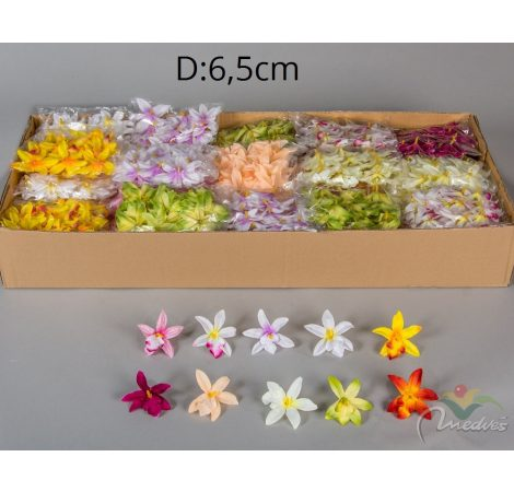 Orchidea virágfej mini 48db/csom
