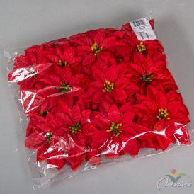 Mikulás virágfej bársony 60db/csom