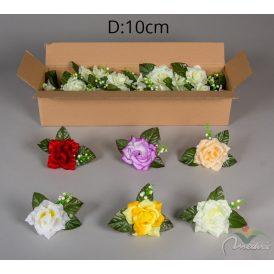 Rózsa virágfej levéllel és rezgővel 36db/karton Egész kartonra rendelhető!